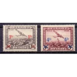 Belgium 1935 N° PA6/7 used