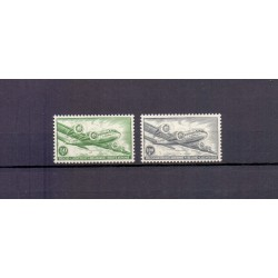 Belgium 1954 N° PA10A/11A used