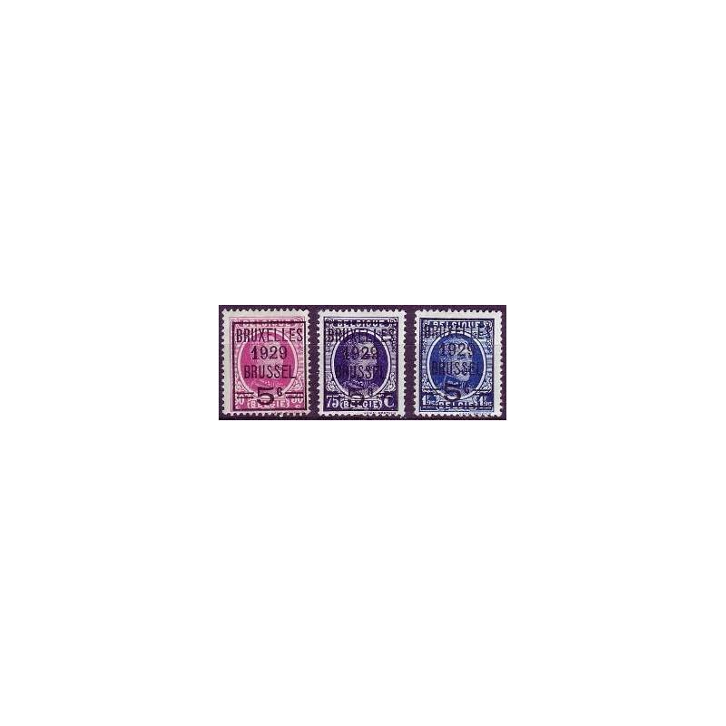 Belgium 1929 n° 273/75** MNH
