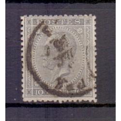 Belgie 1865 n° 17a gestempeld