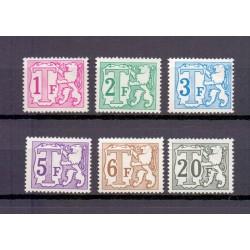 België 1966 n° TX66A/72A**...