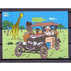 Congo 2001 n° BL205A Tintin...