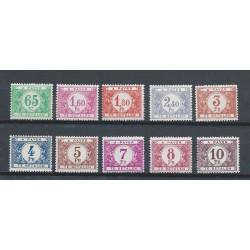 Belgium 1945 n° TX56/65 used