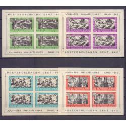België 1942 n° E30/33ONBL**...