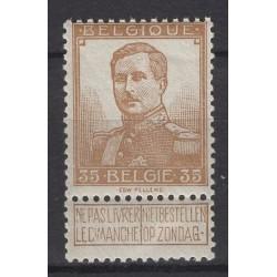 België 1912 n° 113V2**...