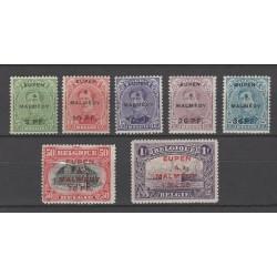 Belgien 1920 n° OC55/61**...