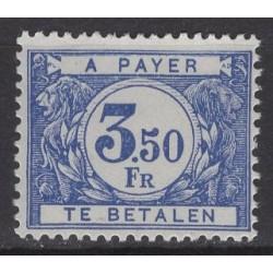 Belgium 1922 n° TX48a** mnh...