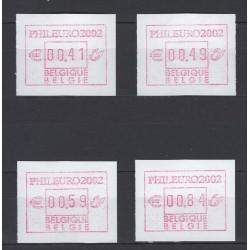 Belgium 2002 n° ATM109SET**...